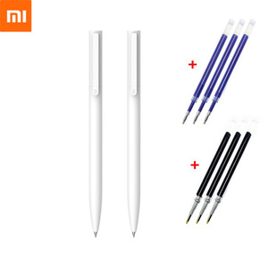 Original Xiaomi Mijia Gel Pen 9.5mm No Cap Bullet ballpoint pen Smooth Switzerland Refill Japan Black Blue Signing Mi Pens