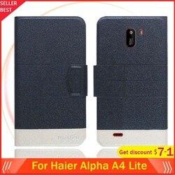 На Алиэкспресс купить чехол для смартфона 5 colors hot!! haier alpha a4 lite case 5.5дюйм. flip ultra-thin leather exclusive phone cover fashion folio book card slots