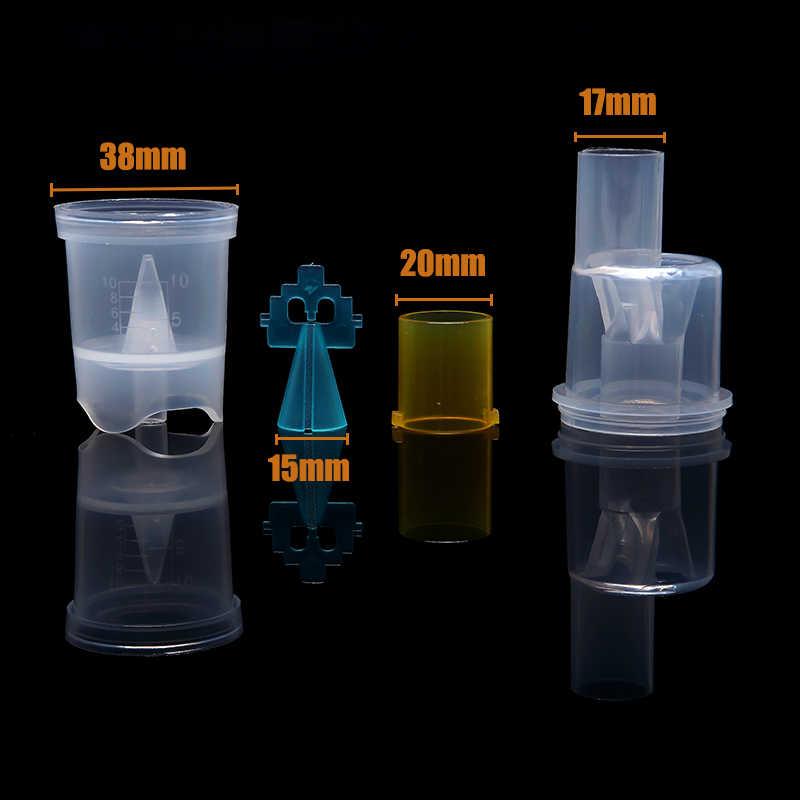 5 uds. Copa de inhalador de plástico de grado alimenticio 10ml FDA medicina tanque taza atomizadora pulverizador doméstico compresor nebulizador accesorio