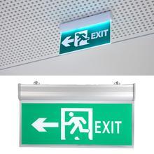 Светодиодный знак аварийного выхода 110-220 В акриловый светодиодный знак аварийного выхода лампа индикатор эвакуации светильник