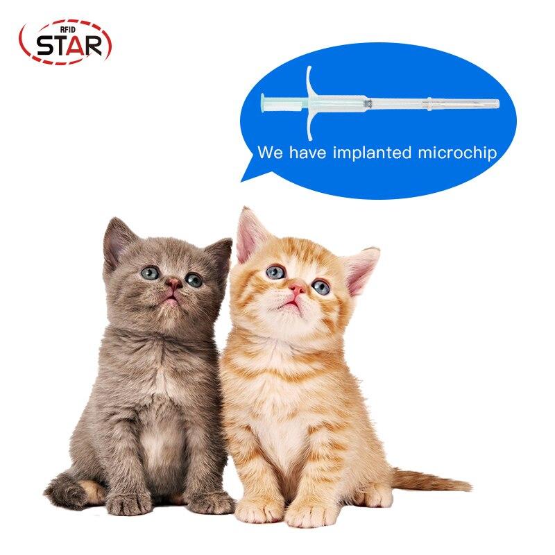 (100pcs) Pet Animal Microchip Syringe Nfc Pet Microchip Injection Syringe 13.56mhz 2.12*12mm Rfid Animal Microchips With Syringe