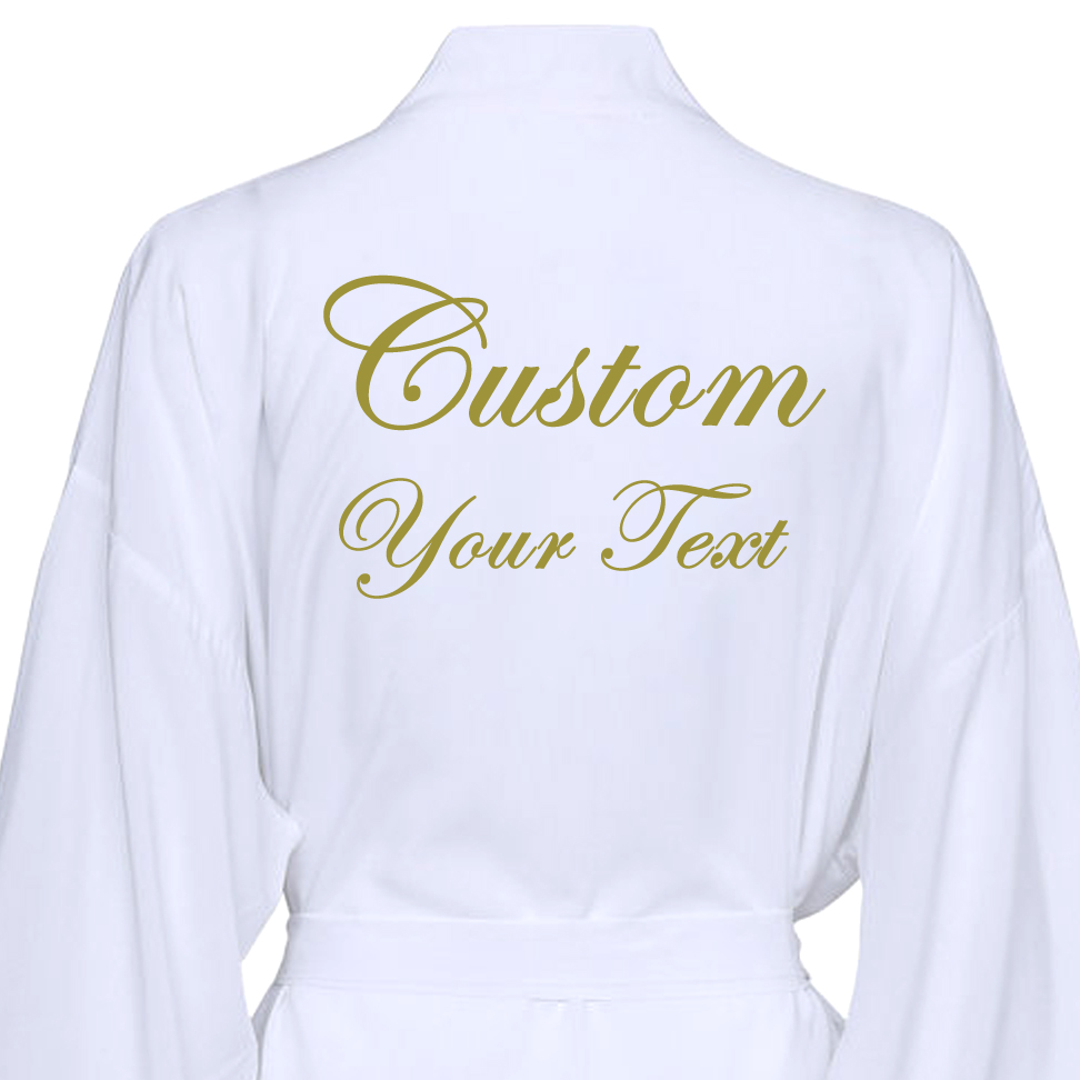 Text Custom Bridesmaid Cotton Kimono Wedding Robes W / Lace Trim Women Wedding Bridal Robes Short Belt Bathrobe Sleepwear