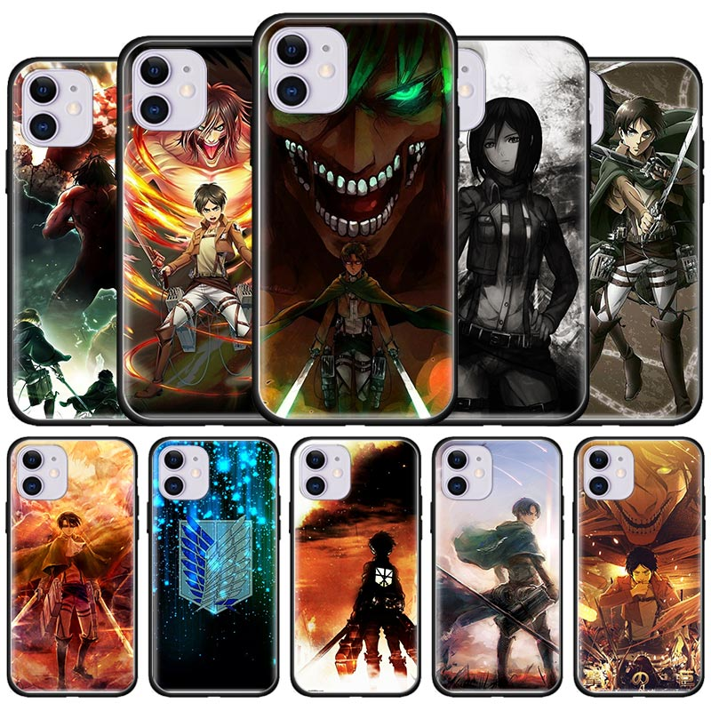 Eren Jaeger Attack On Titan Case For Apple iPhone 7 8 11 Pro Max XR XS