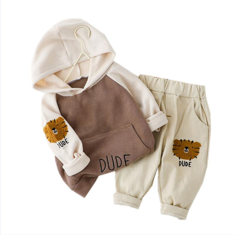 10.38US $ 45% OFF New Spring Autumn Children Clothes Baby Boys Girls Cartoon Hooded T Shirt Pants 2P...