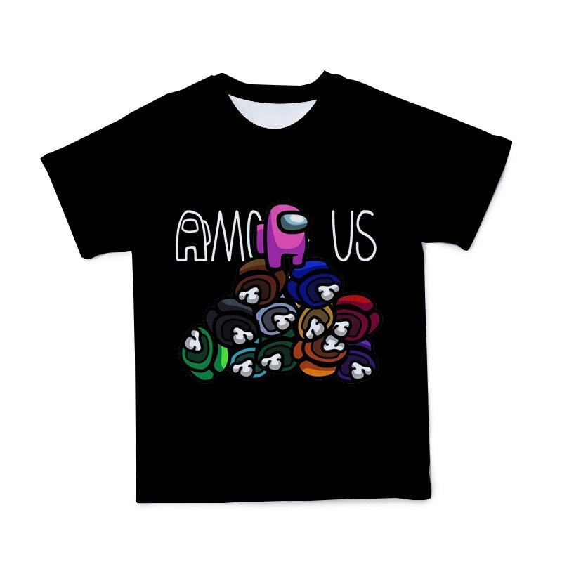 T-Shirt à manches courtes 3D pour hommes et femmes, grand, frais et respirant, tendance, jeu parmi nous, été, 2021