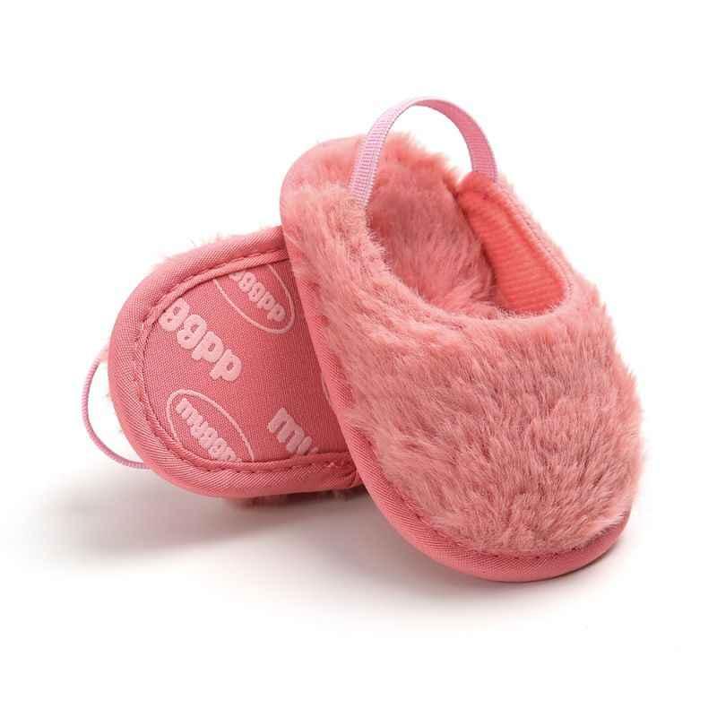 Модная детская обувь из искусственного меха; милая обувь для маленьких мальчиков и девочек; домашняя обувь на мягкой подошве