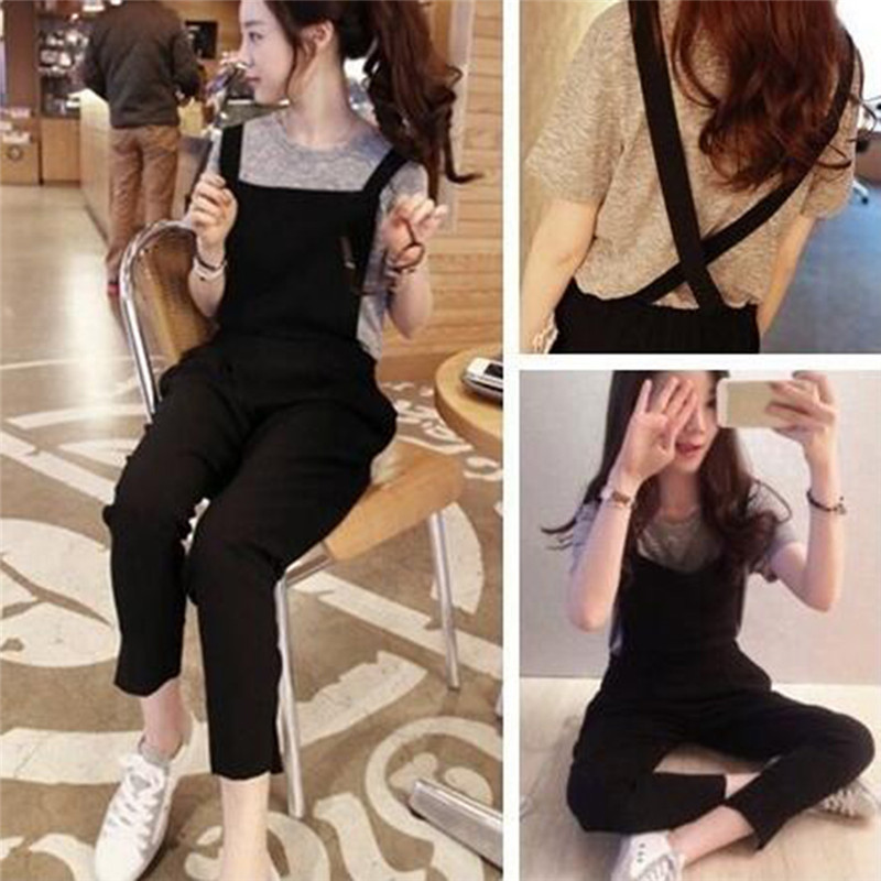 GAOKE Women Korean Fashion Jumpsuits Casual Backless Rompers Overalls Playsuits