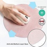 Almohadillas para ratón de cuero sintético, protector impermeable Circular de doble cara, Color sólido, alta calidad, diámetro de 22cm
