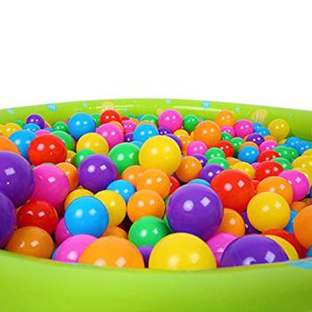 Colors Baby Plastic Balls Water Pool Ocean Wave Ball Kids Swim Pit With Basketball Hoop Play House Outdoors Tents Toy Bath Toys image