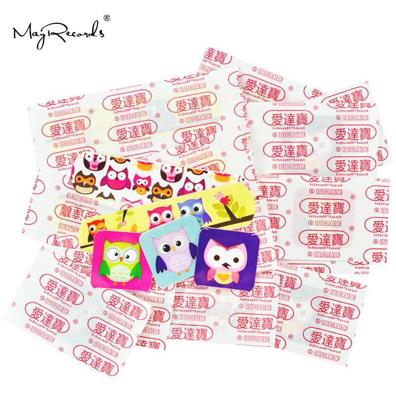 Image 3 - Free Shipping 60 PCs/3Boxes Assorted Waterproof Breathable Owl Cartoon Adhesive Wound Bandage Hemostasis First aid Band aid Kids-in Emergency Kits from Security & Protection