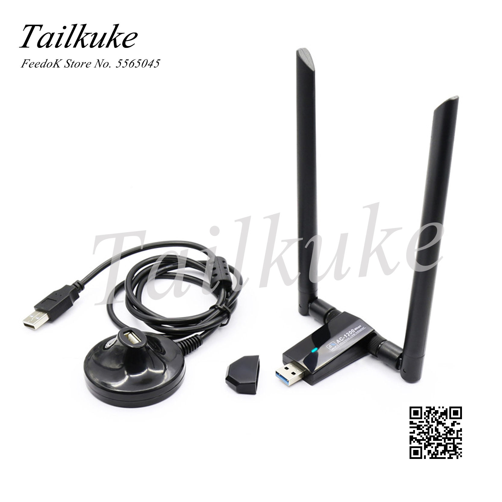 Rtl8812au Kali Linux Network Card Penetration Test Usb Wireless WiFi Transmitter Receiver AP Gigabit