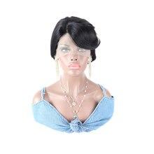 Berry Hair 100% Brazilian Human Hair Cheap Short T Lace Front Wig Wholesale Female Short Pixie Cut Wigs For Black Women