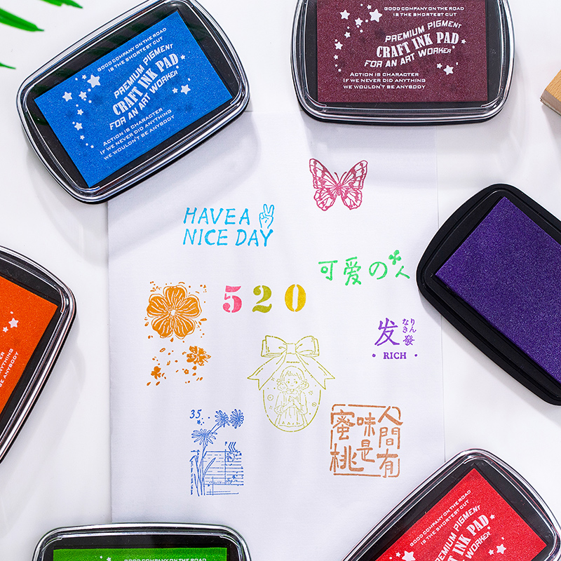 COO NOTE  ink pad oil planner scrapbooking silicone stamp DIY diary greeting card Wood Paper Craft Gift