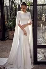 Свадебные платья русалки boho 2021 с длинными рукавами и кружевной