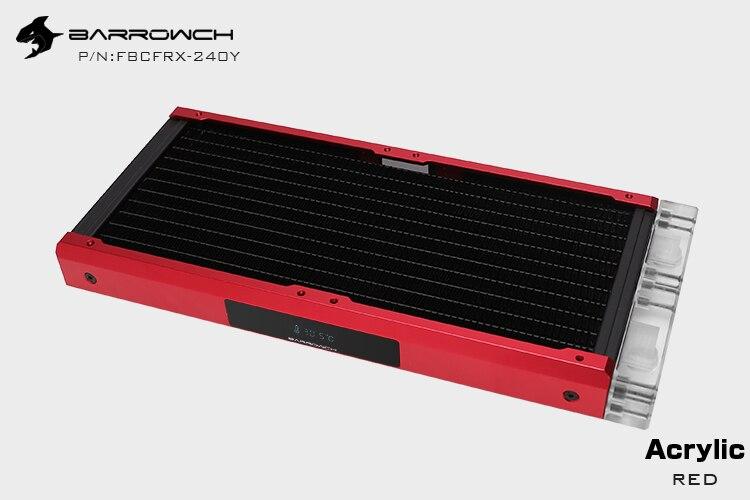 Barrowch FBCFRX-240 Хамелеон рыбы модульный 240 мм радиатор с OLED дисплей акрил/POM Впускной модуль подходит для 120 мм вентилятора - Цвет лезвия: Acrylic-Red