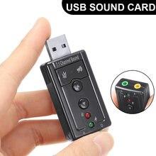 Pohiks внешняя звуковая карта usb 71 ch 35 мм 3d аудио адаптер