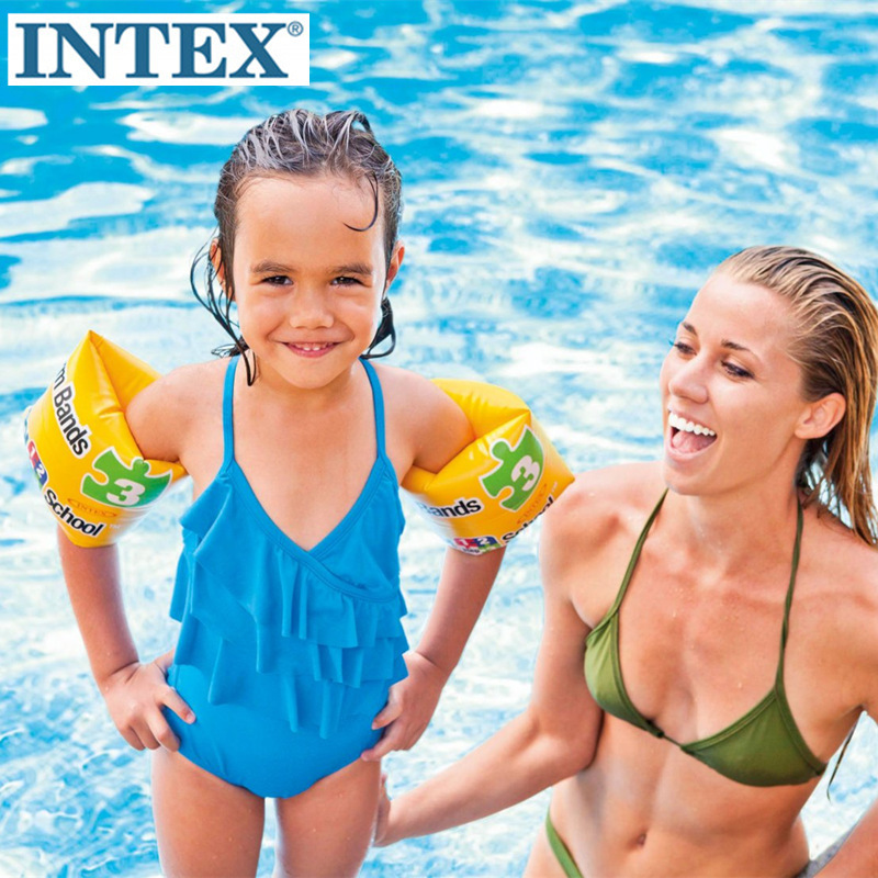 INTEX 56643 Swimming School Arm Floats Life Ring Swimming Tube Floating Buoyancy Sleeves Arm Inflatable Water Wing