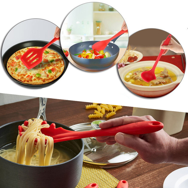 10pcs 5pcs Silicone Cooking Utensils Sets Heat Resistant Kitchenware Baking Utensils Kitchen Cooking Tools Set Accessories