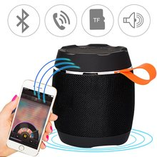Portable Bluetooth Mini Speaker Wireless Subwoofer Speaker Stereo Sound Box Cloth Cover Fabric Tablet Speakers(China)