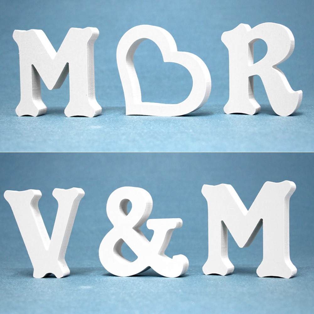 Thicknes 12mm Wedding Decoration Wood Wooden Letter English Alphabet DIY Name Design & ONE Crown Form SWEET HOME Of LOVE FAMIly