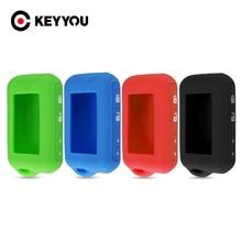 KEYYOU 40x Für Starline E60 E61 E63 E66 E90 E91 E61 E95 E66 2 Weg Auto Alarm LCD Fernbedienung controller Keychain Silikon Fall Auto Schlüssel
