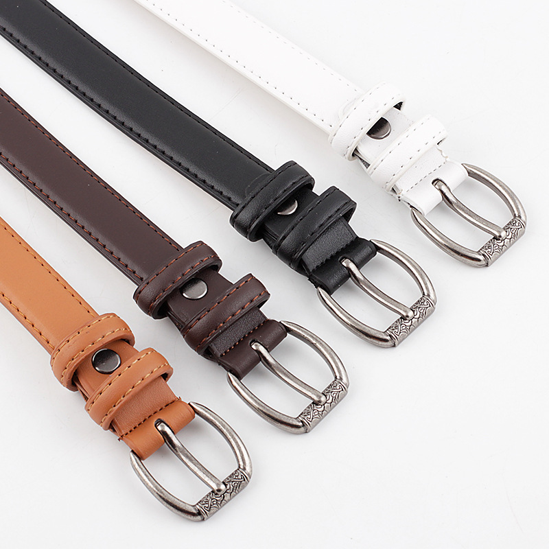 2020 Vintage Women's Black White Brown Steam Punk Waist Belt Female Retro Ladies Long Wide Leather Belt For Women Jeans
