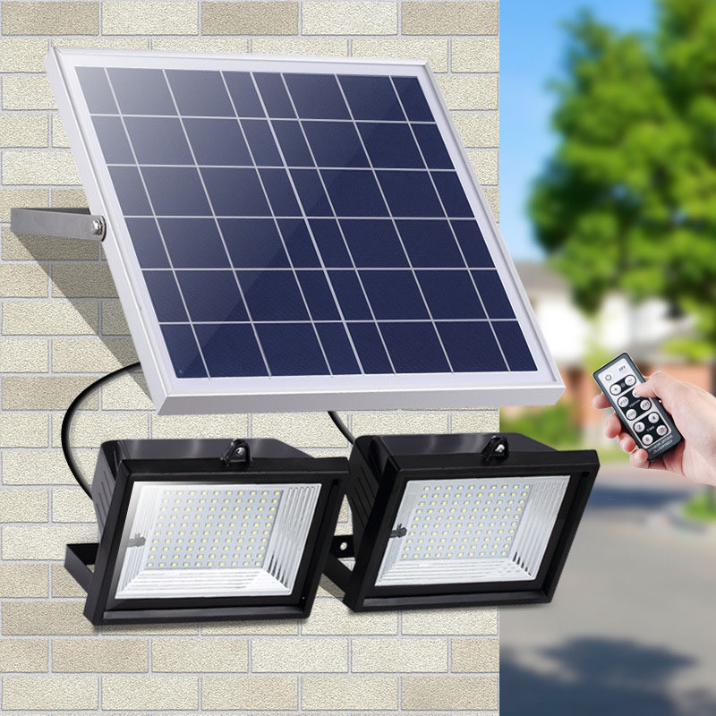4pcs Led Solar Floodlight 60LEDs 126LEDs 160LEDs 200LEDs Waterproof IP65 Outdoor Garden Street Flood Light With Remote Control