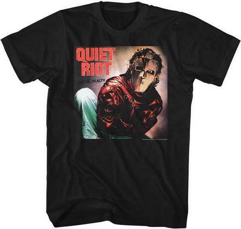 QUIET RIOT Heavy Metal Band Glam Rock <font><b>Randy</b></font> <font><b>Rhoads</b></font> Concert Tour Adult T-Shirt 8 Humor Adult TEE Shirt image