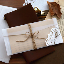 Transparent Envelope Wedding-Invitation Thank-You Love-Cards Vintage 10pcs/Lot