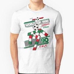 Ciao-Италия 90 T рубашка 100% натуральный хлопок Италия 90 Италия 1990 Италия Campionato Mondiale ди Calcio Футбол Futbol