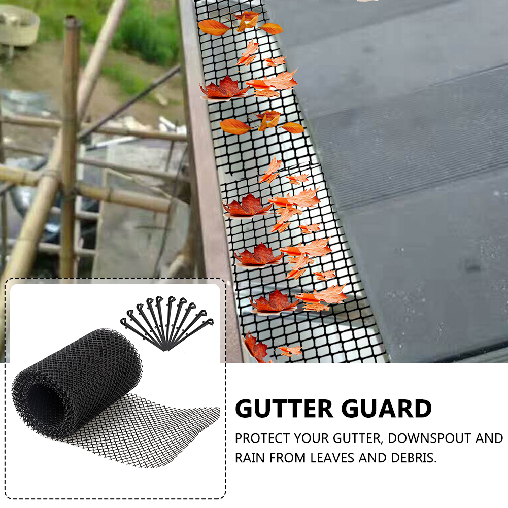 Stops Leaves Drain With Stakes Mesh Cover Flexible Gutter Guard Floor Cleaning Tool Outdoor Anti Clogging Garden Reduce Overflow Special Buy