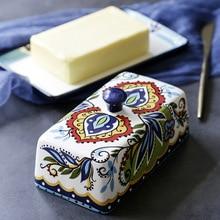 Европейская и американская креативная керамическая коробка для масла, европейская посуда с крышкой, тарелка для масла, тарелка для десерта, тарелка для масла, коробка для сыра
