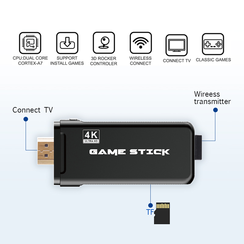 lowest price DATA FROG Game Console With 2 4G Wireless Controller HDMI Video Game Console 600 Classic Games For GBA Family TV Retro Game