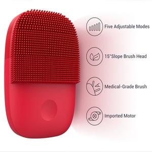 Image 2 - Youpin inFace Elektrische Gesicht Reinigung Pinsel Massager Ultraschall Haut Wäscher Instrument Weiche Silikon Gesichts Reinigung Geräte