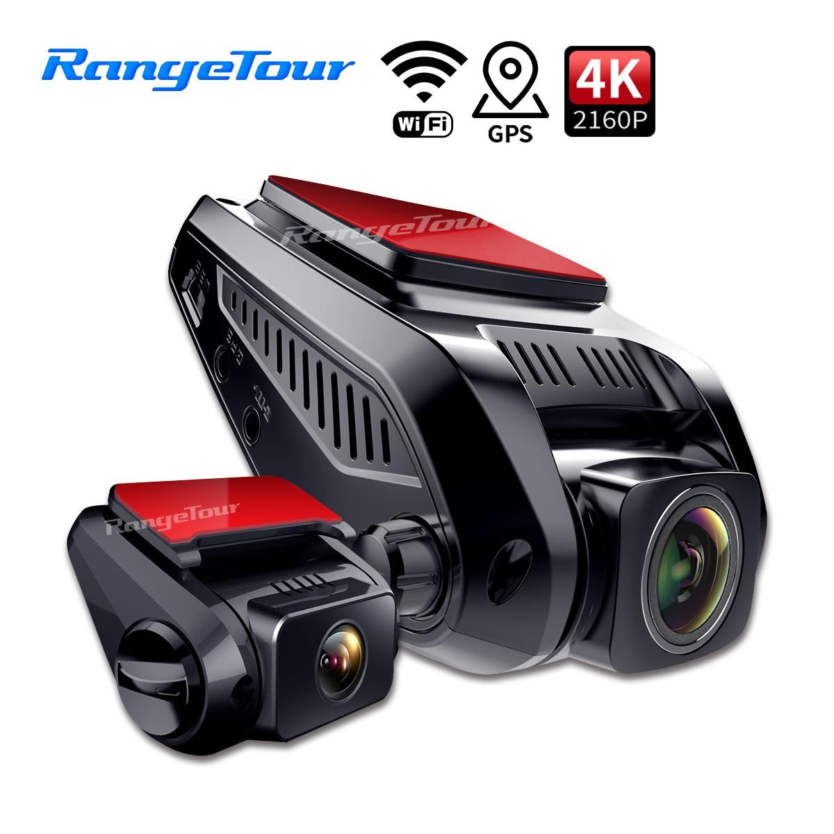 Видеорегистраторы для автомобилей Камера 4K 2160P Встроенный GPS WiFi ADAS Dash Cam передние и задние и 1080P вождения Регистраторы Обнаружение движения 24...