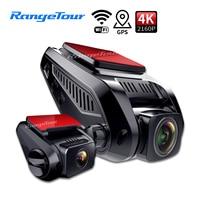 Telecamera DVR per auto 4K 2160P integrata In GPS WiFi ADAS Dash Cam anteriore e posteriore sia 1080P registratore di guida rilevazione di movimento parcheggio 24H