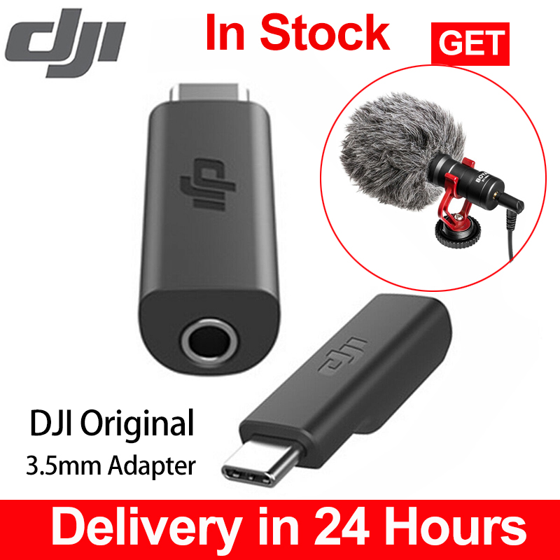 For Original DJI Osmo Pocket Microphone Adapter 3.5mm Supports External 3.5mm Mic Mount For TRS Plug DJI Osmo Pocket Accessories