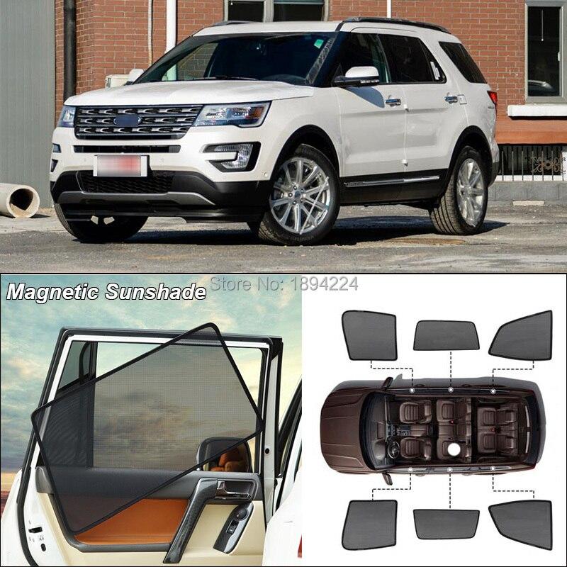 Car Side Windows Magnetic Sun Shade UV Protection Ray Blocking Mesh Visor For Ford Explorer