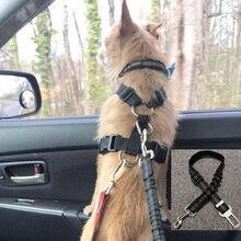 Universal Praktische Hund Katze Haustier Sicherheit Einstellbare Auto sitz Gürtel Harness Leine Reise Clip Strap Blei Pet Auto Sicherheit Gürtel