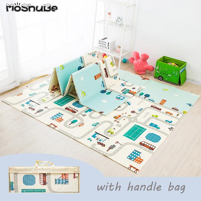 Tapetinho dobrável com quebra-cabeça educacional para bebês, carpete para brincar no berçario, escalada, tapete infantil, atividades, jogos e brinquedos