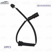 10 pçs frente almofada de freio wear sensor 441919351 para audi 200 avant 44 44q v8 441 442 4c2 4c8 quattro almofada de freio do carro wear aviso fio