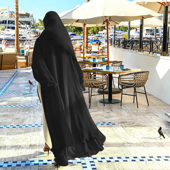 Chiffon Open Abaya Kimono Dubai Turkey Kaftan Muslim Cardigan Abayas Dresses For Women Casual Robe Femme Caftan Islam Clothing 2