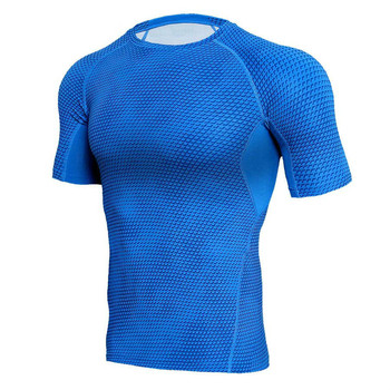 3D Print Short Sleeve T Shirt Sport Compression Shirt Men Running Jersey Quick Dry Rashgard Man Tank Tops Tees GYM Sportswear 1