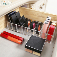 Acrylic Make Up organizer Transparent acrylic lipstick storage box table makeup cosmetics