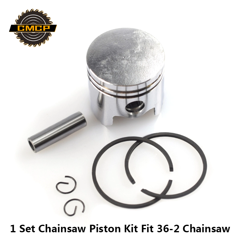 1 Set 36mm Chainsaw Piston Kit Piston Ring Pin Kit Fit For 36-2 Chainsaw Spare Parts Cylinder Piston Set