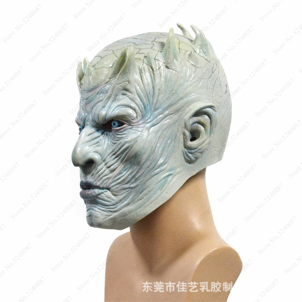 Halloween Cosplay The Game of Thrones Night King Latex Mask Helmet Hat Adult FullFace Headgear Monsters Caps Party Scary Costume
