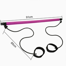 Multi-functional Yoga Pull Rods Portable Gym Pilates Bar with Resistance Band for Chest-expanding Fitness Workout
