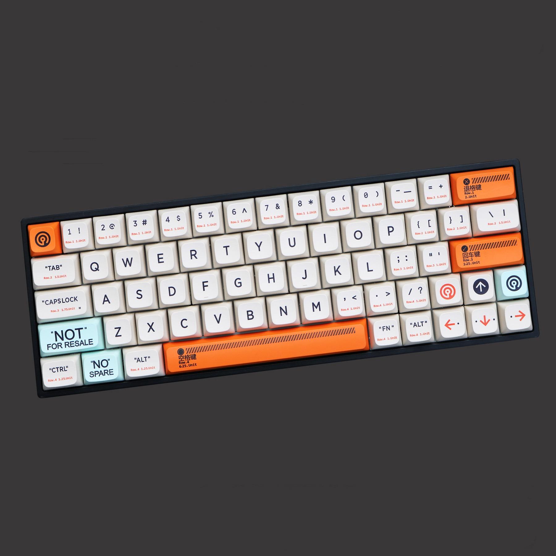 143 Keys/set Plastic Theme PBT Dye Subbed Key Caps For MX Switch Mechanical Keyboard XDA Profile Keycap For 68 84 96 980M
