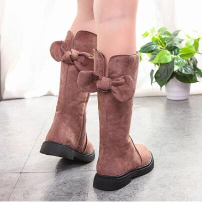Kids Snow Boots For Girls Genuine Leather Tassel Kids Fashion Princess Boots Girls Rhinestone Fringe Children Winter Shoes