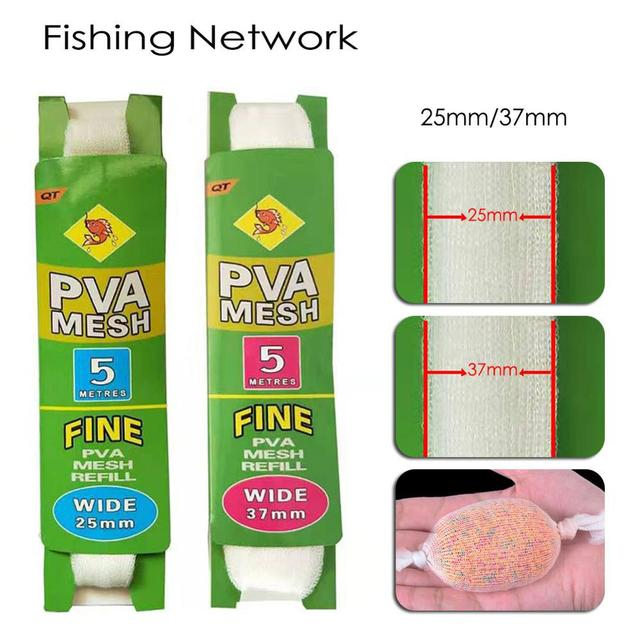 Awesome 5M PVA Soluble Narrow Fishing Network Fishing Accessories cb5feb1b7314637725a2e7: 2.5cmx5m|3.7cmx5m